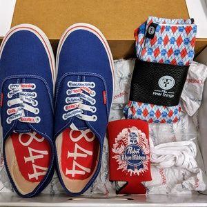 Pabst Blue Ribbon (PBR) Vans Authentic Shoes
